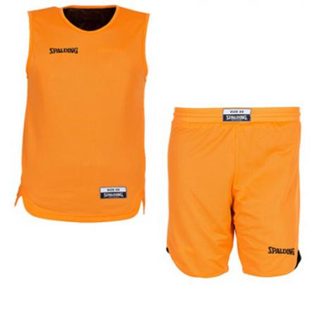 Tenue de Basket Double face Spalding junior orange / noir